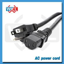 EE.UU. 125V 7A Cable de alimentación con UL
