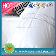 Deluxe White Embroidered Hotel Bedding Set Duvet Cover Set