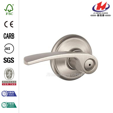 Merano Satin Nickel Bed and Bath Lever