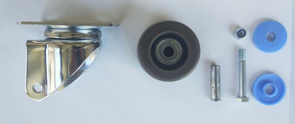 Parts Of 2 Tpr Swivel Caster Wheel