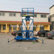 colonne élévatrice mât hydraulique électrique portable télescopique surélevée one man lift