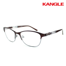 Wholesale fashion design stainless steel titan glasses women china metal optical frame