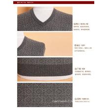 Yak laine / cachemire col v pull à manches longues pull / vêtement / vêtements / tricots
