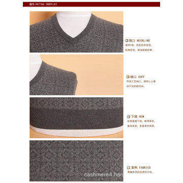 Yak Wool/Cashmere V Neck Pullover Long Sleeve Sweater/Garment/Clothes/Knitwear