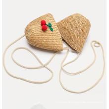 Baby Coin Purse Flower Tote Handbag Messenger Single Shoulder Children Straw Bags