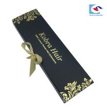 caixa de embalagem de extensão de cabelo por atacado com logotipo personalizado