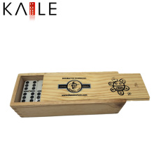Custom Black Dots Domino Gold Supplier China in Wooden Box