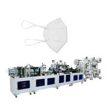 Machine de fabrication de masques pliants à bandeau jaune 3D