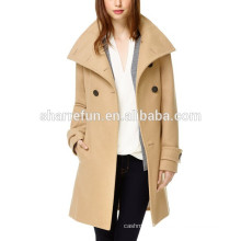 Factory customize and wholesale korean style 100% women wool coat