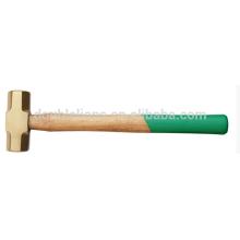 Martelo de latão, Sledge (tipo alemão), cabo de madeira