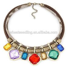 2015 Moda Encanto camada dupla colar de pedra
