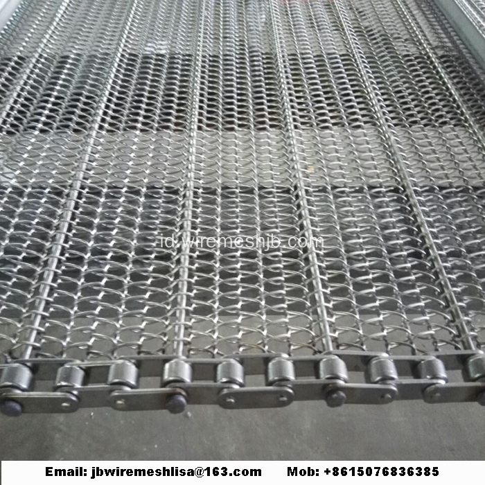 Sabuk Conveyor Logam Stainless Steel
