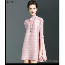 2016 dernières conceptions décontractées de robe de Lax de rayure pour des dames