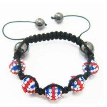 Bandera del Reino Unido shamballa nuevos modelos tendencias joyas 2016 populares pulseras de cuentas