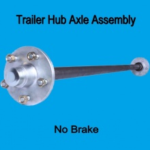 light trailer axle shaft unbraked