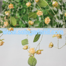 Rose Flower Garland Centerpiece With Green Leaf