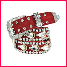 Fashion jeweled belt,studded belt for women