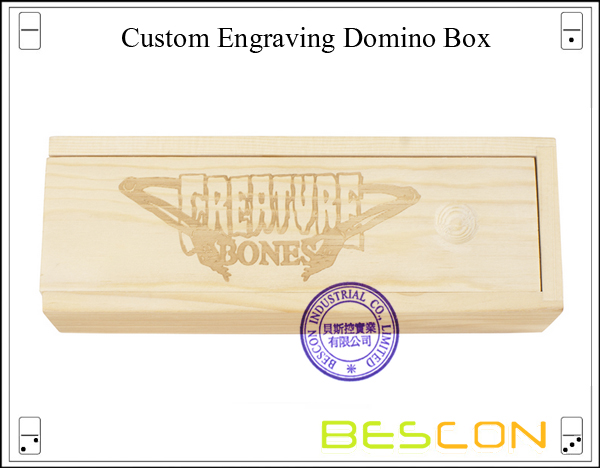 Custom Engraving Domino Box