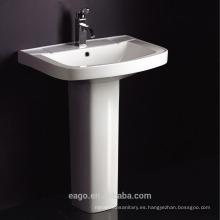 EAGO Lavabo con pedestal de cerámica con orificio simple BD101E