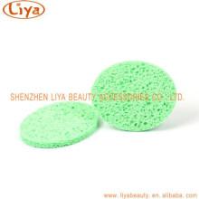 Оптовые продажи очищающий целлюлозы макияж Губка для удаления овальной формы
