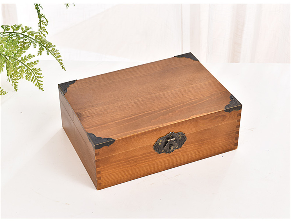 antique finish wooden boxes with lock