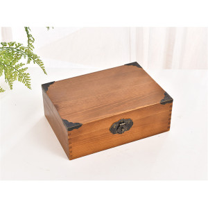 factory Outlets for for Wooden Gift Box Antique Finish Wooden Box With Lock supply to Costa Rica Factory