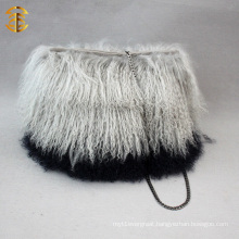 Factory Direct Supply New Style Girls Charm Lamb Fur Bag