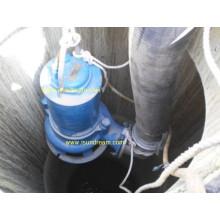 Pompe d'eaux usées non obstruée et submersible