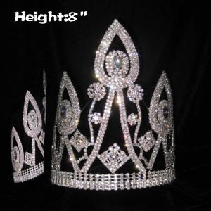 8 in Unqiue Classic Pageant Coronas de cristal
