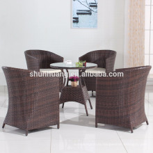 nice design 5pcs PE rattan furniture garden rattan chair with cushions