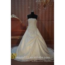 IN STOCK Spaghetti straps wedding dress sleeveless floor-length bridal dresses SW43