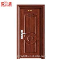 Diseño de puerta de dormitorio simple diseño de puerta única de acero inoxidable a ras de puerta
