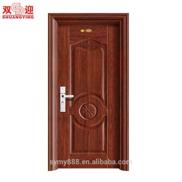 Простой дверь спальни конструкции двери из нержавеющей стали одной двери дизайн