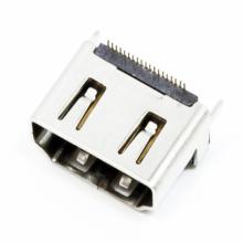Conector HDMI hembra vertical de 19 pines enchufables para PC / portátil / STB / TV / HDTV / DV / MID / memoria extraíble