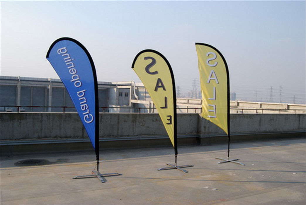 Knitted Fabric Custom Teardrop Flag Banner