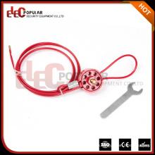 Elecpopular Productos de alta demanda Seguridad reutilizable Tipo de rueda Bloqueos de cables para asegurar las válvulas