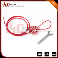 Elecpopular Produtos de alta demanda Tipo de roda de segurança reutilizável Bloqueios de cabo para fixar válvulas