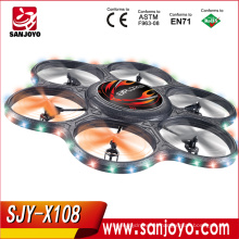 X108 Helicóptero de control remoto 51CM 4CH Radio Big Quadcopter UFO