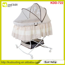 NEW Design Wholesale Baby Bassinet Portable Butterfly Mosquito net cover Large Storage Basket Rocking Cradle Child Product