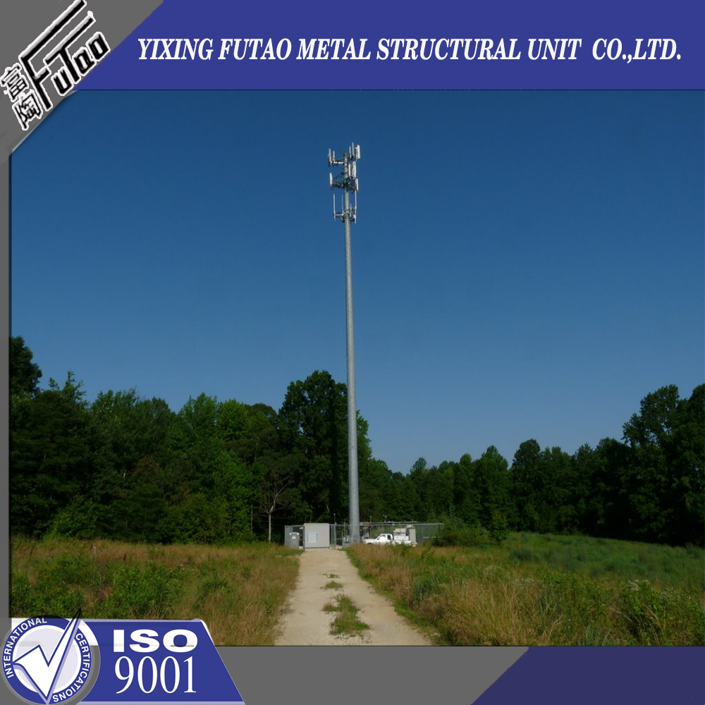 30m Hot dip galvanized steel tower pole