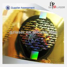Impresión autoadhesiva de la etiqueta engomada de la seguridad con el holograma