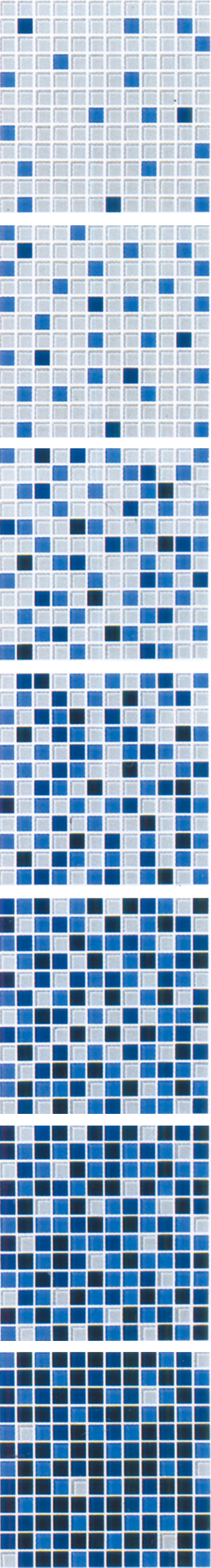 Dark Blue Gradual Change Glass Mosaic