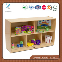 Wooden Storage Unit with 5 Multi-Sized Compartments