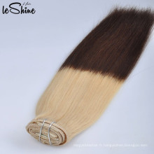 En gros Premium 10A Deux Tons Ombre 100% Tresses Vierges Couleur Armure de Cheveux Bundles Vente Usine