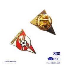 Alfinete de lapela de lapela de futebol de alfinete de triângulo de metal feito sob encomenda (xd-03127)