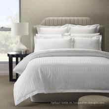 Ropa de cama 100% del algodón del hotel de la raya 100% al por mayor barata