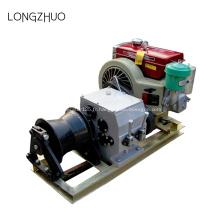 Câble alimenté par moteur tirant le treuil avec moteur à essence