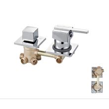 Brass bath  mixer shower faucets durable bathroom tap chrome faucets double handle taps