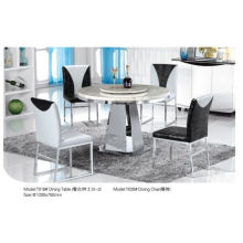 Professional Round Dining Table with Marble/Glass (T016)