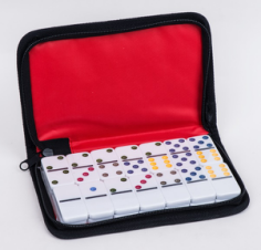 Dominoes In Leather Box